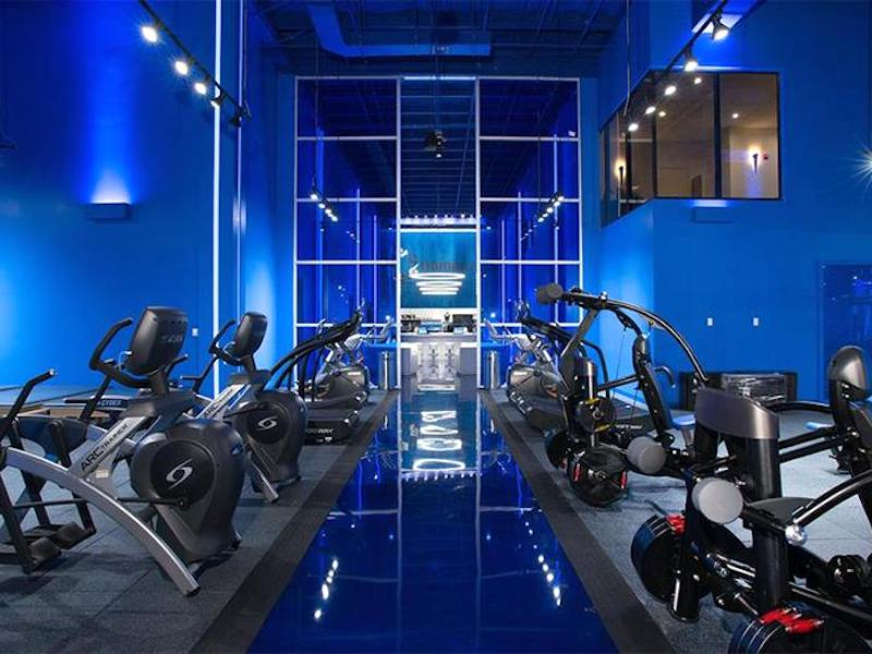 Interior Conceptual Gym Design for TrainerSpace in Boca Raton, FL by Cuoco Black.