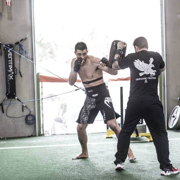 carlos condit running drills on mma training equipment for speed and agility