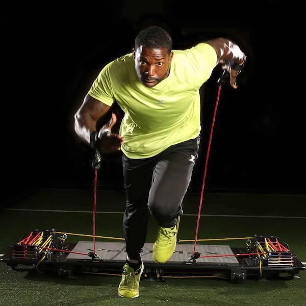 sprinter training for speed on vertimax v8 equipment